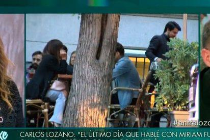 """Monumental corte de Carlos Lozano a María Patiño: """"Vete a un cine X"""""""