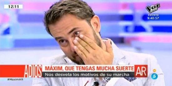El día en que Màxim Huerta se choteó de Pablo Iglesias y lo puso a hacer caca en público