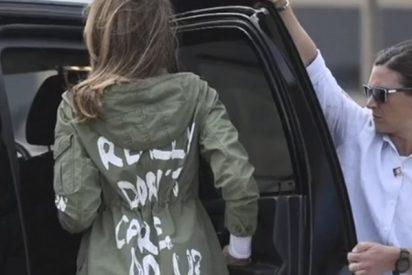Melania Trump luce esta polémica chaqueta en su visita a los niños en la frontera