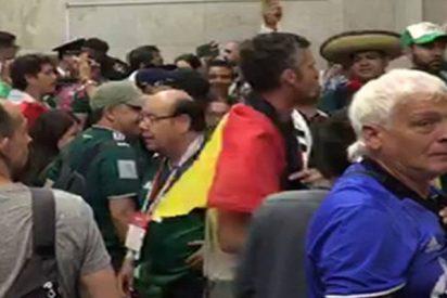 Los mexicanos ganan la batalla de los cánticos a Alemania en el metro de Moscú