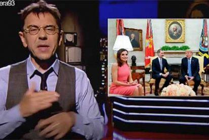 """Monedero vomita su bilis sobre la reina Letizia porque no fue a ver a los niños """"enjaulados por el malvado Trump"""""""