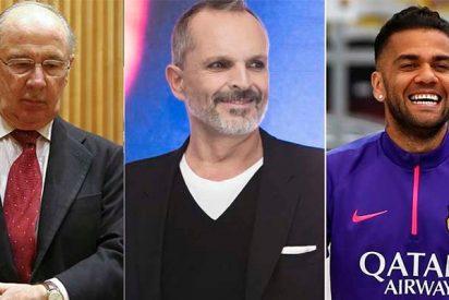 Miguel Bosé, Rodrigo Rato o Dani Alves están en la lista de los morosos de Hacienda