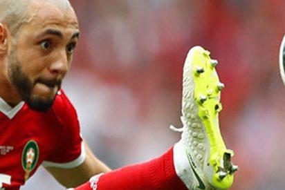Este jugador marroquí critica a un árbitro del Mundial por admirar a Ronaldo y pedirle la camiseta a Pepe