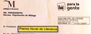 Los 'intelectuales' de IU piden el 'Novel de Literatura' para García Lorca con una falta de ortografía acongojante