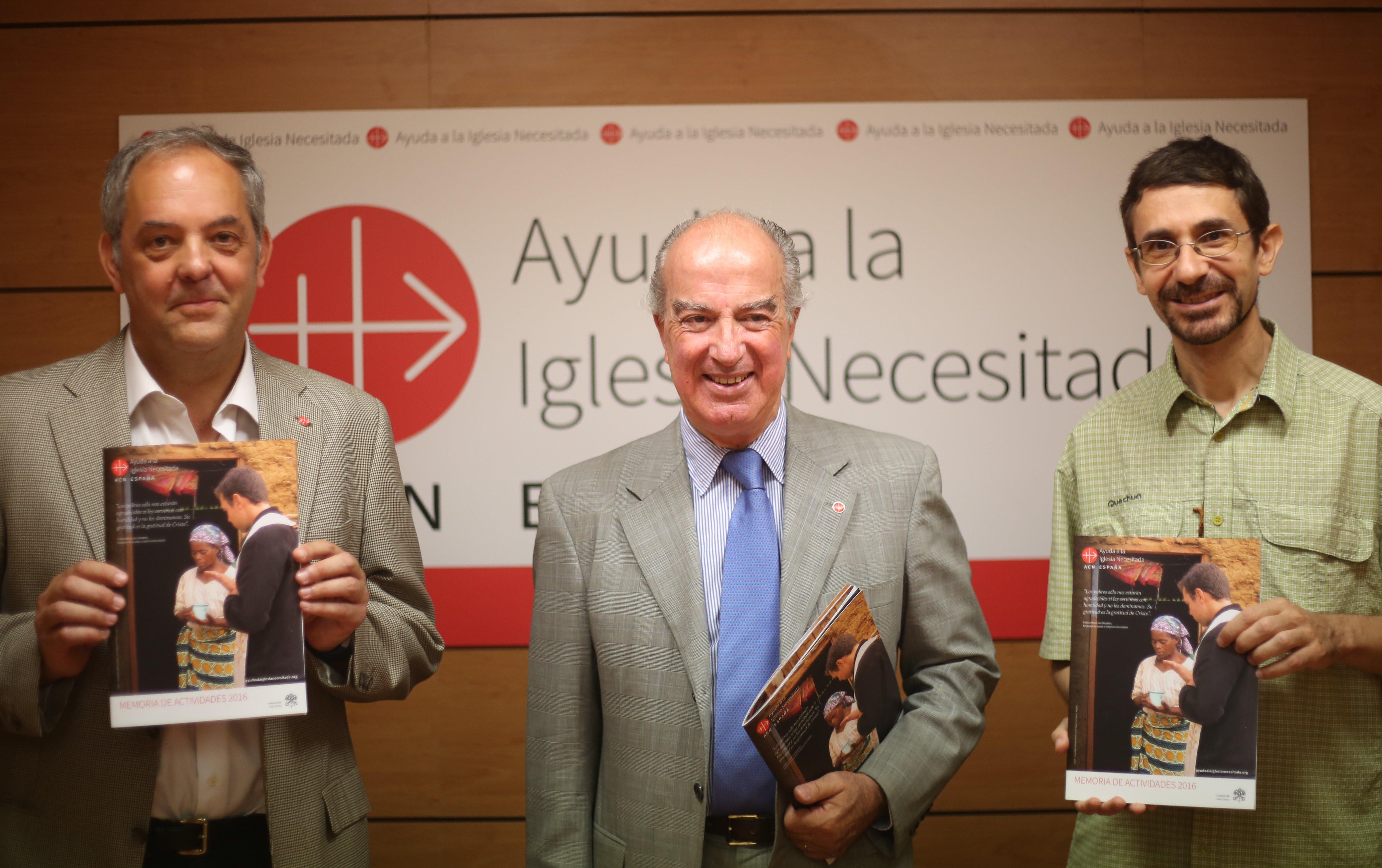 Ayuda a la Iglesia Necesitada recaudó en 2017 16,9 millones de euros