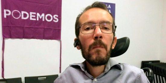 """Twitter le arrea un botellazo a Pablo Echenique por llamar borrachos a PP, Ciudadanos y """"sus medios afines"""""""