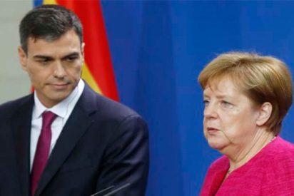 Un periodista le hace a Merkel la pregunta del millón sobre el prófugo Puigdemont y la alemana la 'caga'