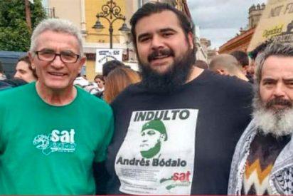 Detenido 'El Pancetas', líder del SAT, por un delito de odio e injurias a la Corona