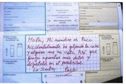 La Guardia Civil comparte el parte de tráfico más loco de la historia