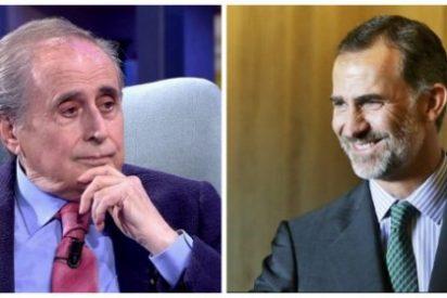 El 'pisacharcos' Jaime Peñafiel sube el tono contra la Casa Real con un despiadado ataque contra Felipe VI