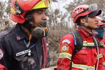 Así fue la frenética operación de rescate a las víctimas del Volcán de Fuego en Guatemala