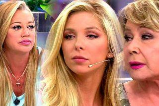 Romina Malaspina descoloca a las arpías Belén Esteban y Mila Ximénez en su visita a 'Sálvame'