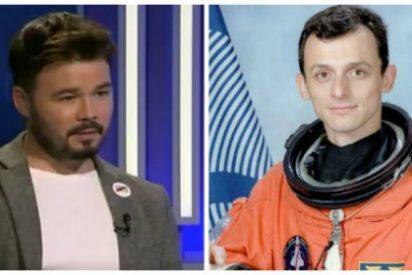 Twitter pone en órbita al 'bocachancla' Gabriel Rufián por sus mofas con el nombramiento de Pedro Duque