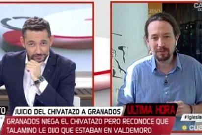 Conmoción en Cuatro por la bronca de despedida de Javier Ruiz a Pablo Iglesias