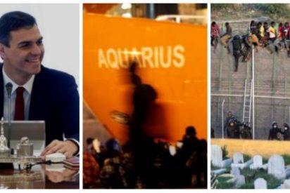 Sánchez derribará para laSexta las vallas de Ceuta y Melilla tras ganar a nado el telediario solidario del Aquarius