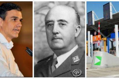 Pedro Sánchez es el Gobierno de los globos-sondas: Los días pares, desenterrar a Franco; los impares, quitar peajes