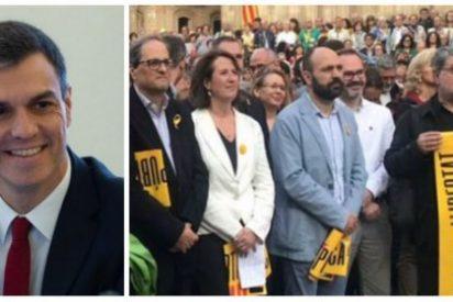Sánchez, ¿de verdad vas a dialogar con Torra? El presidente catalán se retrata con dos terroristas