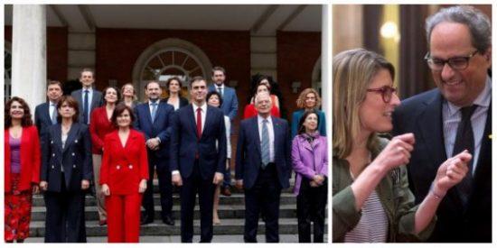 ¡Este es el estreno del Gobierno de Sánchez! Postureo, vende humos a mansalva y acuerdos con los golpistas