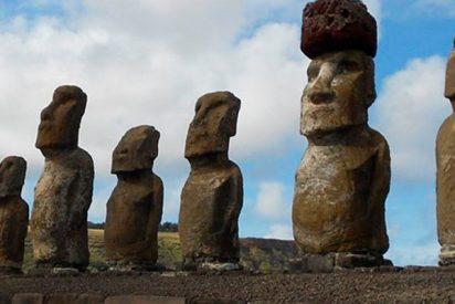 ¿Sabes cómo se colocaron los sombreros de 13 toneladas que coronan moais de Rapa Nui?