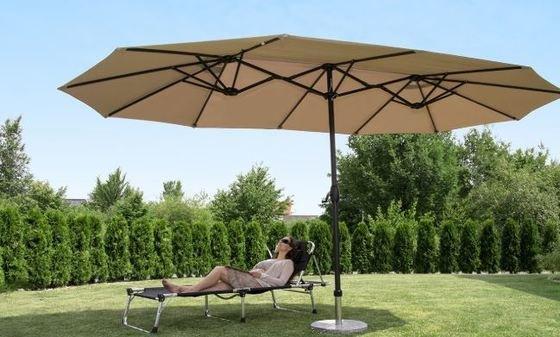 Sekey® Aluminio Sombrilla Parasol de Doble Juego para terraza jardín