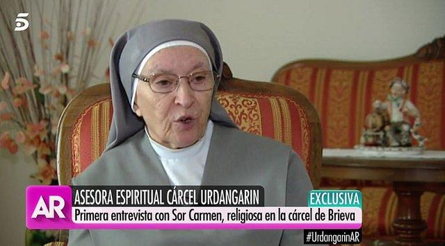 """Sor Carmen, a Urdangarín: """"Nadie aguanta en la cárcel de Brieva sin fe"""""""