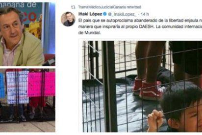 """Iñaki López se traga una foto falsa y Tertsch le despedaza: """"Es lo más nauseabundo del basurero"""""""
