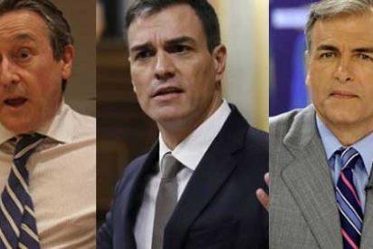 Hermann Tertsch zarandea a Carmelo Encinas por rendirse sin disimulo en COPE a 'Welcome Refugees' Sánchez