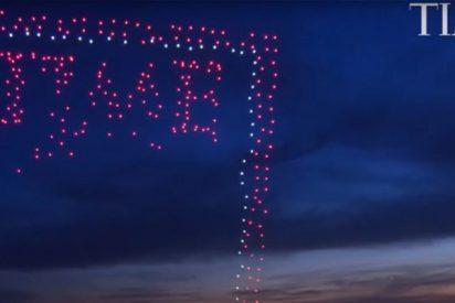 La impresionante portada de la revista Time con drones