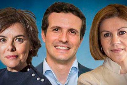 Pablo Casado encabeza las Primarias del PP (34%), seguido de Cospedal (30,9%) y Soraya (29,6%)