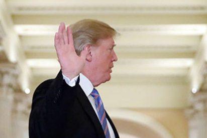 """""""¡Señor presidente, que le jodan!"""": Trump recibe una inesperada bienvenida en el Capitolio"""
