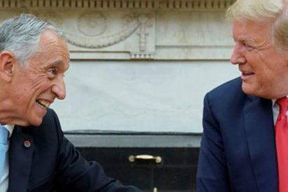 ¿Venció el presidente portugués a Trump en su 'duelo de saludos' de apretón de manos?