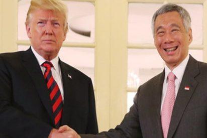 Trump se reúne con el primer ministro de Singapur