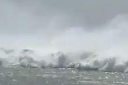 Así se ve venir un tsunami