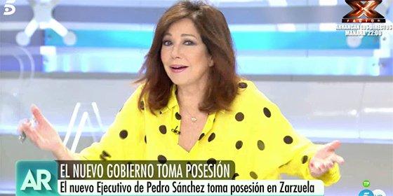 Ana Rosa Quintana hunde el estreno de varios ministros de Sánchez con una sola frase
