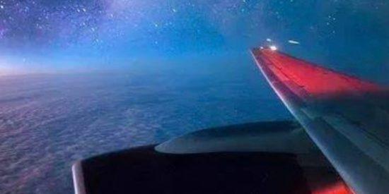La Vía Láctea desde un boeing 747