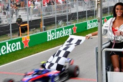 La modelo Winnie Harlow a punto de crear el caos en el G.P de Formula 1 en Canadá