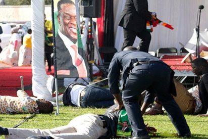 Fuerte explosión sacude el estadio en Zimbabue donde intervenía el presidente Mnangagwa