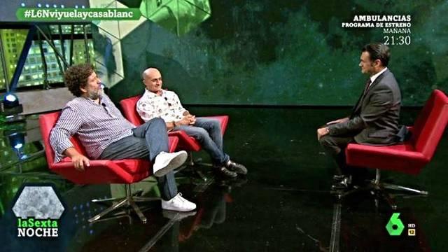 La macabra comedia de dos actores en 'La Sexta Noche' describiendo una España negra y represora