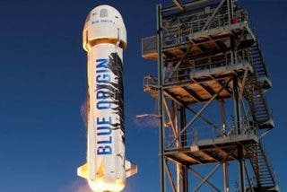 Subastan una plaza para el primer viaje espacial del Blue Origin