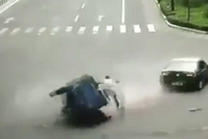 El accidente de carricoche mas ridículo y largo de la historia