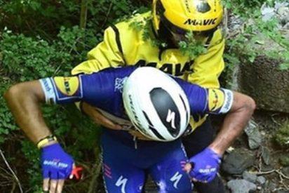 Impactante accidente de un ciclista en el Tour de France