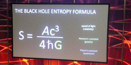 Esto es lo que significa la ecuación que quería Stephen Hawking en su tumba