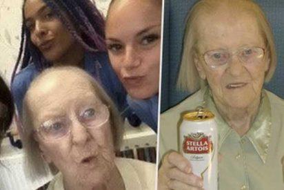 Anciana centenaria atribuye a la cerveza el secreto de su larga vida