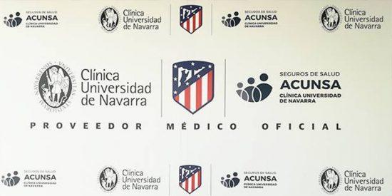 Los proveedores médicos oficiales del Atlético de Madrid serán ACUNSA y la Clínica Universidad de Navarra
