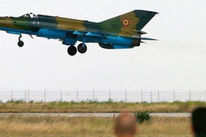 Así se estrella un avión militar en un espectáculo aéreo en Rumanía