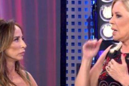 Bárbara Rey se levanta para irse de 'Sálvame Deluxe' muy cabreada
