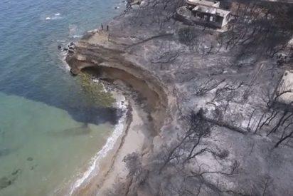 Así quedó este hermoso balneario griego tras los incendios forestales