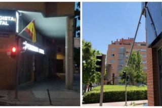 Unos facinerosos destrozan la bandera española que ondeaba en la redacción de Periodista Digital