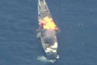 EE.UU. y sus aliados hunden una nave propia como muestra de fuerza ante la Armada china