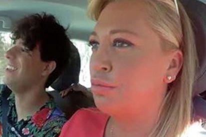 Lo policía le da un susto de muerte a Belén Esteban en el estreno de su nuevo programa